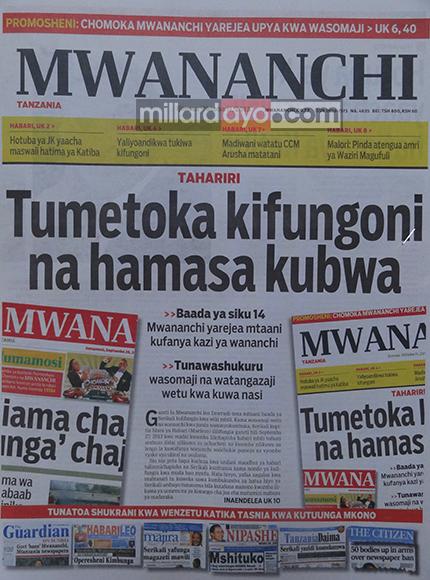 Mwananchi 11/10/13
