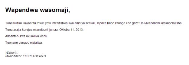 from mwananchi.co.tz, 2/10/13