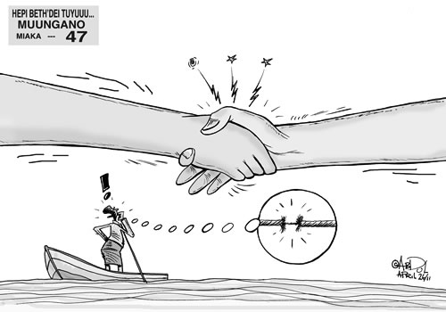 Cartoon from Nipashe, April 2011